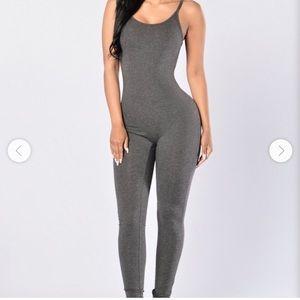 Fashion Nova grey jumpsuit